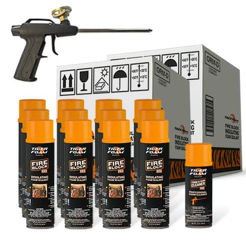 Tiger Foam™ Fire Block Pro 24oz Foam Sealant