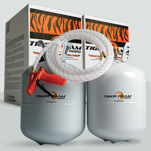 Tiger Foam Open Cell 1350 Board Foot Spray Foam Insulation Kit