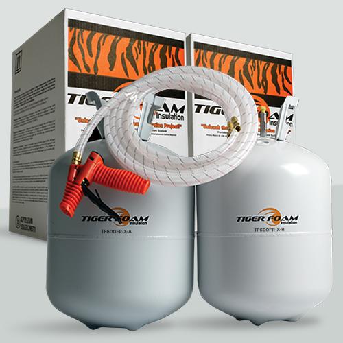 Tiger Foam E84 HFC Fast Rise 600 Board Foot Spray Foam Insulation Kit